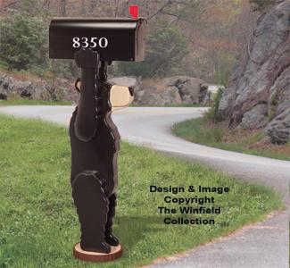 Bear Mailbox Post Pattern