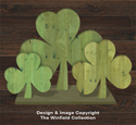 Pallet Wood Shamrocks Pattern