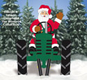 Waving Santa and Front View Tractor Pattern Set