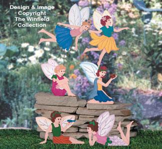 Garden Fairies Woodcrafting Pattern
