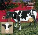 Standing Life-Size Cow Wood Plan
