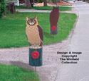 Owl Driveway Marker Pattern