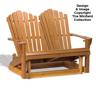 Adirondack Furniture Plans Adirondack Loveseat Glider Wood Plan