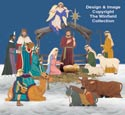 Life-Size Nativity Color Posters and Stable Pattern