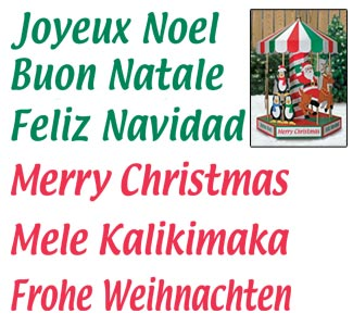 Merry Christmas Messages Color Poster