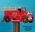 Firetruck Mailbox Woodcraft Pattern