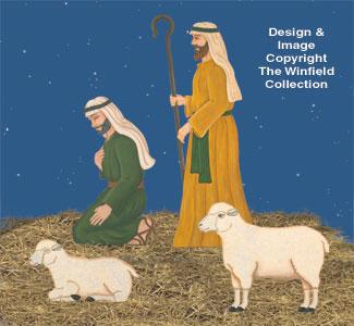 Christmas Shepherds.All Christmas Shepherds Sheep Nativity Pattern Set