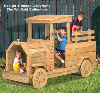 All child projects truck play structure wood plans for Play yard plans