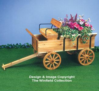 Hay Wagon Planter Wood Plan