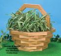 Basket Planter #3 Wood Pattern