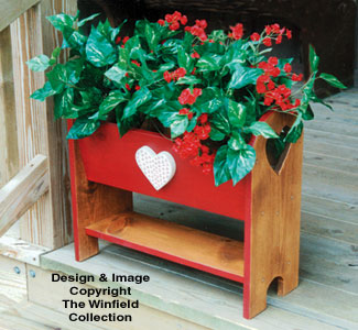 Planter woodworking plans country porch planter wood pattern for Country porch catalog