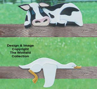 Cow & Goose Rail Pets Pattern