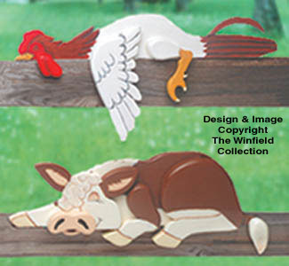 Rooster & Hereford Rail Pets Pattern