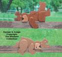 Teddy Bear Rail Pets Woodcraft Pattern