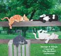 Lazy Rail Cats Woodcraft Pattern
