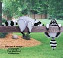 Raccoon Rail Pets Woodcraft Pattern