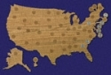 USA Commemoreative Quarters Map Pattern