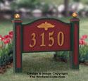 Yard Address Sign Woodcraft Pattern