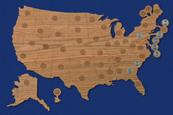 Other Scroll Saw Designs USA Commemoreative Quarters Map Pattern - Us quarter collector map