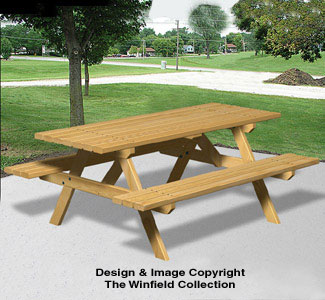 Picnic Table Wood Plans X Picnic Table Woodworking Pattern - Picnic table parts