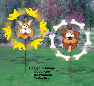 Cat & Dog Whirligigs Wood Project Plan