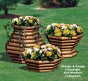 Landscape Timber Planter Trio #3 Wood Pattern