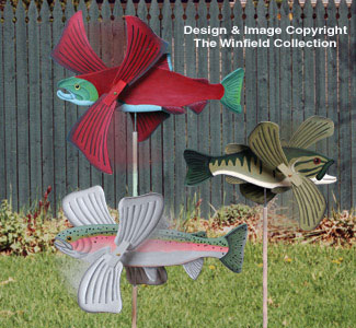 Wind Action Project Patterns - Fish Whirligigs