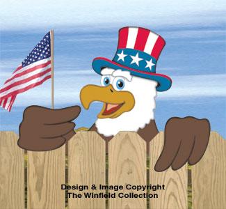 Eagle & Patriotic Eagle Fence Peekers Pattern