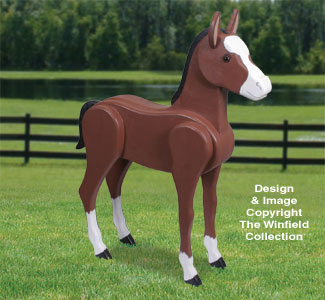 3D Life-Size Colt Woodcrafting Pattern