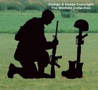 People Fallen Soldier Shadow Woodcrafting Pattern