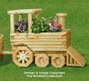 Landscape Timber Locomotive Planter Pattern