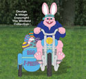 Biker Easter Bunny Woodcrafting Pattern