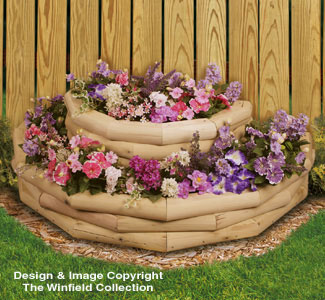 all yard garden projects landscape timber half round planter pattern