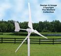 Mini Wind Generator Wood Pattern