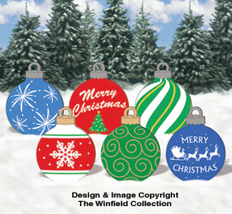 large ornaments 1 color poster - Large Wooden Christmas Decorations