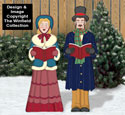 Victorian Caroling Gentleman and Lady Color Poster