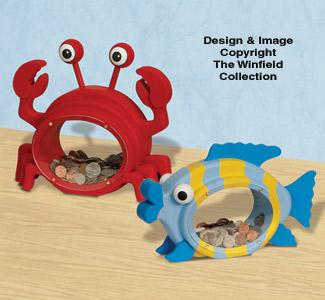 Fat Crab & Fish Coin Banks Pattern