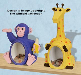 Fat Chimp & Giraffe Coin Banks Pattern