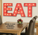 Marquee Eat Sign Pattern