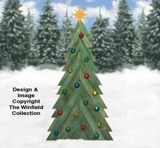 Other Christmas Pallet Wood Fir Tree And Gifts Pattern Set