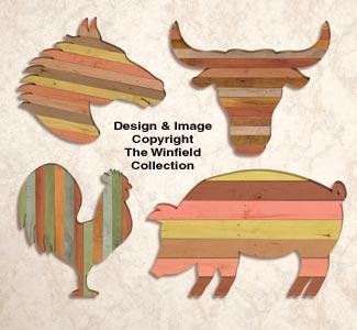 Pallet Wood Wall Art Pattern Set #2