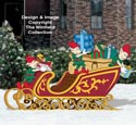 Packing Santa's Sleigh Color Poster