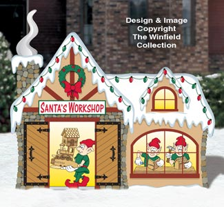 north pole santas workshop pattern - Santa And The North Pole