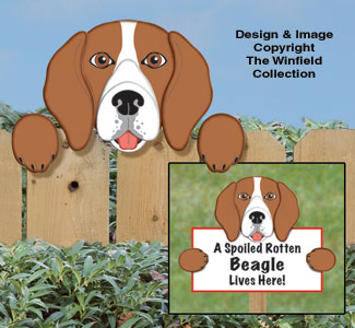 New Items Beagle Fence Peeker Pattern