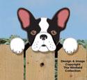 French Bulldog Fence Peeker Pattern