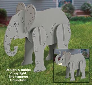 3d Animal Project Patterns Lucky Yard Elephant Pattern