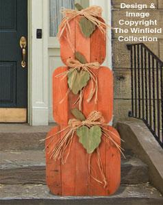 All Halloween Pallet Wood Pumpkin Stack Pattern