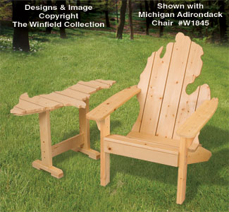 New items adirondack michigan chair up table plans for Adirondack side table plans