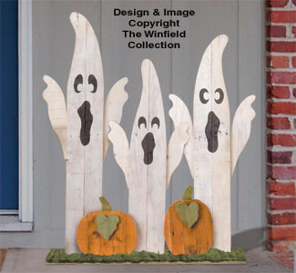 Pallet Wood Ghostly Trio Pattern