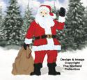 Giant Waving Santa Color Poster